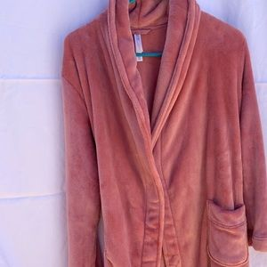Gilligan and O'Malley Pink long Robe - XS